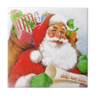 Santa Claus -Checking His List Tile