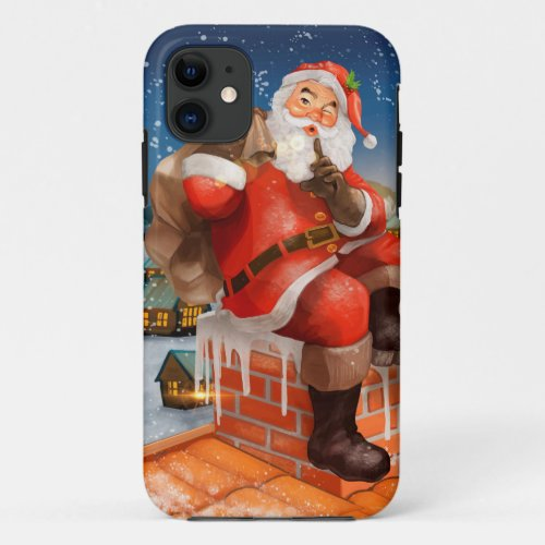 Santa Claus Chimney Delivery iPhone 11 Case