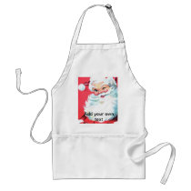Santa Claus Christmas Apron Personalize with Name