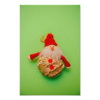 Santa Claus Christmas bauble Photo Print