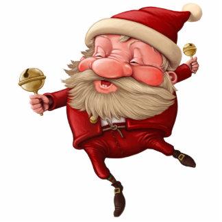 Santa Claus Christmas bells dancing Statuette