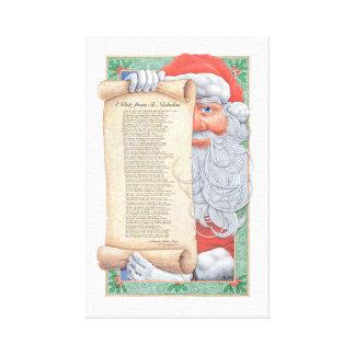 Santa Claus Christmas Canvas Print