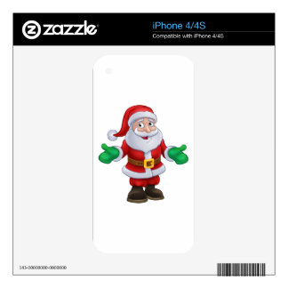 Santa Claus Christmas Character Skin For The iPhone 4
