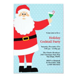 Santa Claus Christmas Cocktail Party Invitation