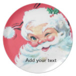 Santa Claus Christmas Cookie Plate