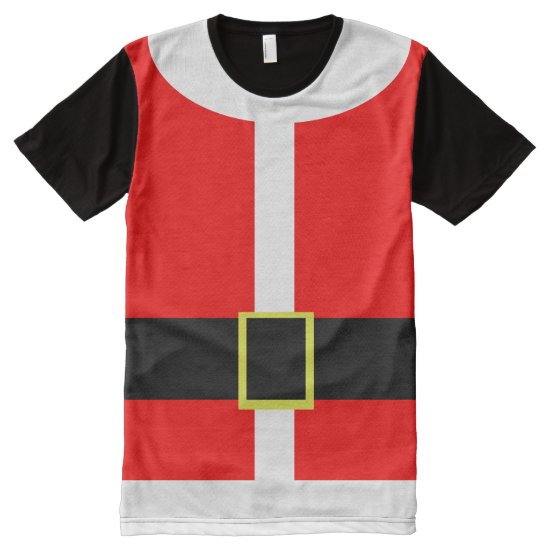 Santa Claus Christmas Costume All-Over-Print Shirt