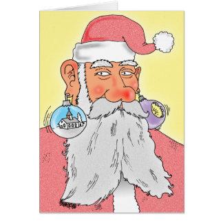 Santa Claus Christmas Decoration Earrings Card