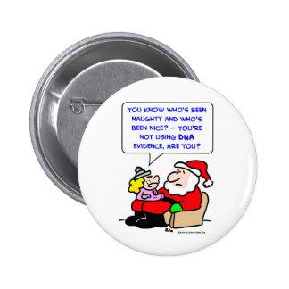 santa claus christmas dna evidence 2 inch round button