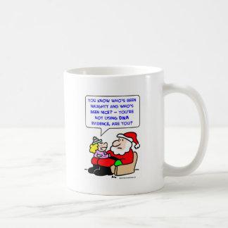 santa claus christmas dna evidence coffee mug