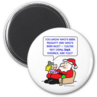 santa claus christmas dna evidence refrigerator magnets