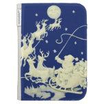 Santa Claus Christmas Elegant Art Gift Kindle Case