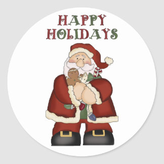 Santa Claus Christmas Fun Stickers for the Kids