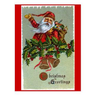 Santa Claus Christmas Greeting Postcard
