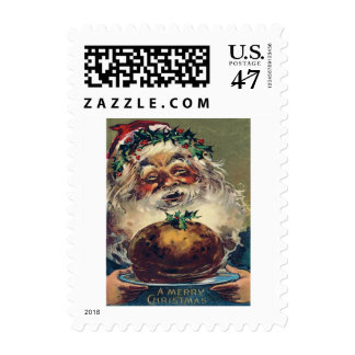 Santa Claus Christmas Ham Holly Postage