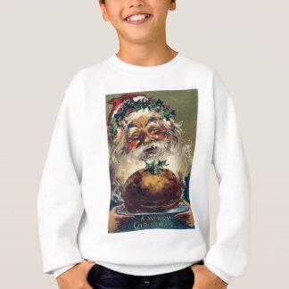 Santa Claus Christmas Ham Holly Sweatshirt
