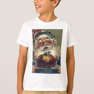 Santa Claus Christmas Ham Holly T-Shirt