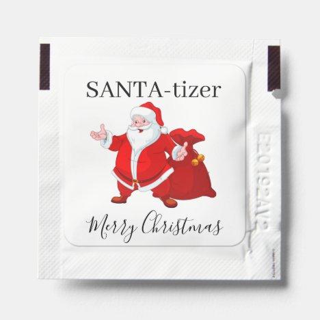 Santa Claus Christmas Hand Sanitizer Packet