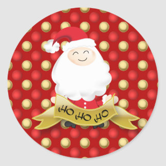 Santa Claus Christmas Ho Ho Ho bauble sticker