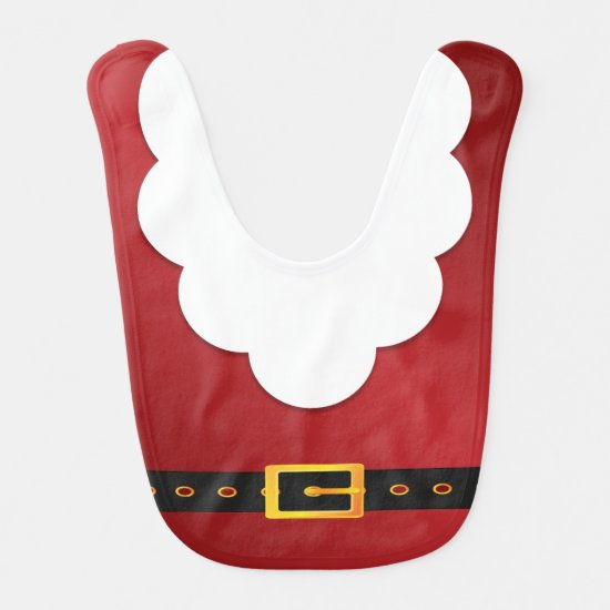 Santa Claus Christmas Holiday Baby Bibs