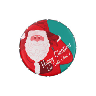 Santa Claus Christmas holidays candy gift tin Jelly Belly Tins