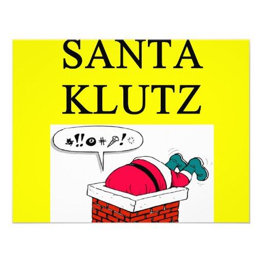 SANTA claus christmas joke Custom Invitation