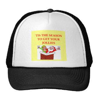 santa claus christmas joke trucker hats