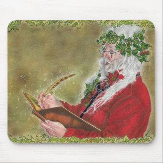 Santa Claus Christmas List Mouse Pad