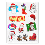 Santa Claus Christmas Mix 2 Temporary Tattoos
