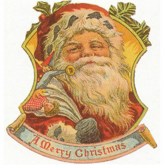 SANTA CLAUS CHRISTMAS ORNAMENT PHOTO CUT OUT