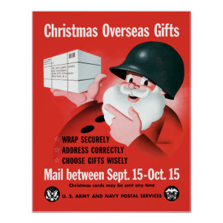 Santa Claus - Christmas Overseas Gifts Poster