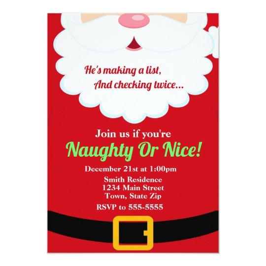 Santa Claus Christmas Party Invitation Holiday Kid Zazzle Com