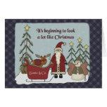 Santa Claus Christmas Scene Greeting Card