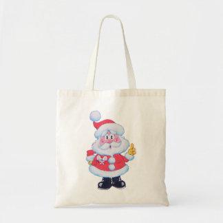 Santa Claus Christmas Shopping Bag