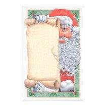 Santa Claus Christmas Stationary Stationery