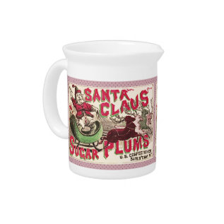 Santa Claus Christmas Sugar Plum Candy Pitcher at Zazzle