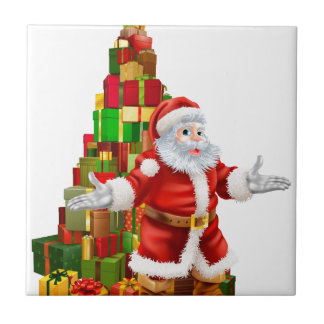Santa Claus Christmas Tree Gifts Tiles