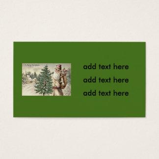Santa Claus Christmas Tree Sack of Toys Church Business Card