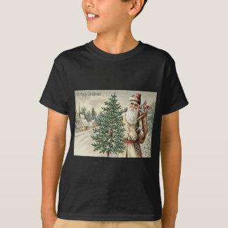 Santa Claus Christmas Tree Sack of Toys Church T-Shirt