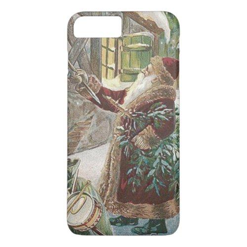 Santa Claus Christmas Tree Sack of Toys Cottage iPhone 8 Plus7 Plus Case
