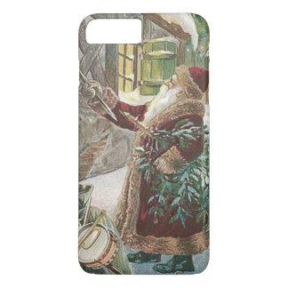 Santa Claus Christmas Tree Sack of Toys Cottage iPhone 8 Plus/7 Plus Case