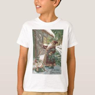Santa Claus Christmas Tree Sack of Toys Cottage T-Shirt