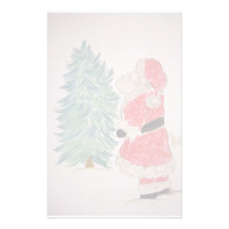 Santa Claus & Christmas Tree Stationery