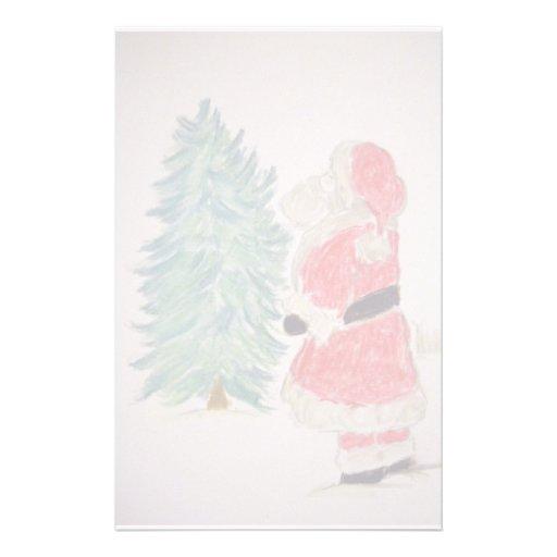 Santa Claus & Christmas Tree Stationery