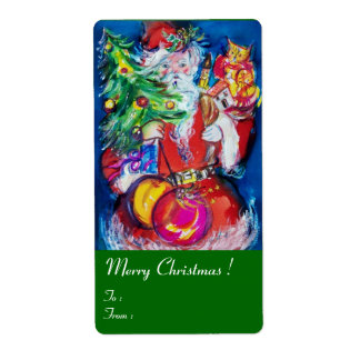 SANTA  CLAUS ,CHRISTMAS TREE ,TOYS AND GIFTS Green Label