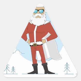 santa claus christmas triangle sticker