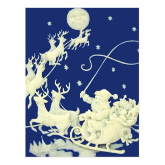 Santa Claus Christmas Vintage Postcard Art