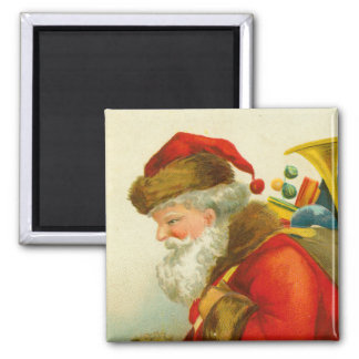 Santa Claus Christmas Vintage Style 2 Inch Square Magnet