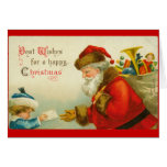 Santa Claus Christmas Vintage Style Stationery Note Card