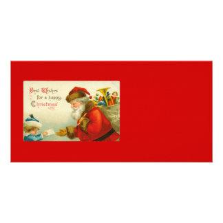 Santa Claus Christmas Vintage Style Card