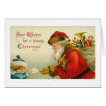 Santa Claus Christmas Vintage Style Greeting Card